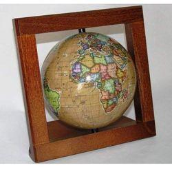 Globus 110 Retro W Drewnianej Ramce