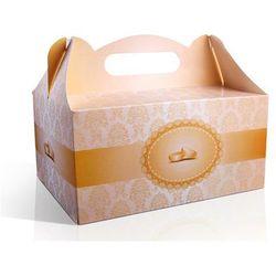 Ozdobne pudełka na ciasto weselne, 1op.