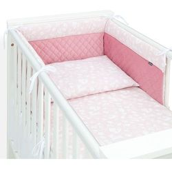 3-el pościel do łóżeczka 60x120 lux velvet pik - las pastelowy róż / różany marki Mamo-tato