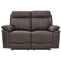 Vente-unique Sofa 2-osobowa isiris ze skóry, z elektryczną funkcją relaksu – kolor brązowy