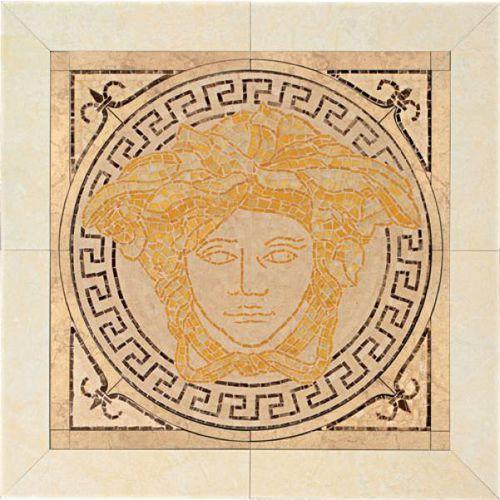 PALACE LIVING Rosoni in pietra Oro/Almond/Beige/Nero 50x50 (P83) (glazura i terakota)