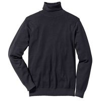 Sweter z golfem Regular Fit bonprix czarny