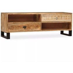 Vidaxl szafka pod telewizor, lite drewno mango, 120 x 30 x 40 cm