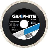 Graphite Tarcza do cięcia  57h640 115 x 22.2 mm diamentowa pełna