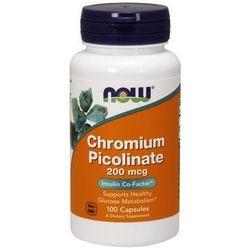 Now Foods Chrom Pikolinat Chromium Picolinate 100 kaps. - sprawdź w wybranym sklepie