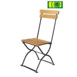 Krzesło metalowo-drewniane ECO