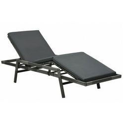 Czarny leżak ogrodowy z poduszką - cetlik marki Elior