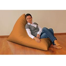 Dekoria  pufa-leżanka, pomarańczowy szenil, 85x140x100 cm, living