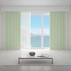 Zasłona okienna na wymiar - TRENDY ZIGZAGS GREEN II