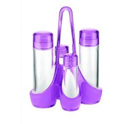 Zestaw na przyprawy mirage, fioletowy - fioletowy marki Guzzini