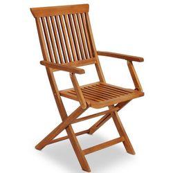 Meble drewniane ogrodowe 4 krzesła, marki Wideshop