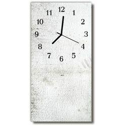Zegar Szklany Pionowy Ściana biały