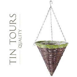 Zwis wiklinowy / kosz wiszący na kwiaty 30x30x32/68h cm marki Tin tours sp.z o.o.