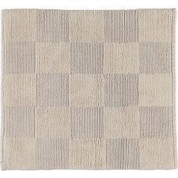 Cawo Dywanik łazienkowy szachownica 60 x 60 cm beżowy tkany ręcznie (4056735049728)