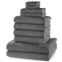 """Bonprix Komplet ręczników """"new uni"""" (10 części) antracytowy"""