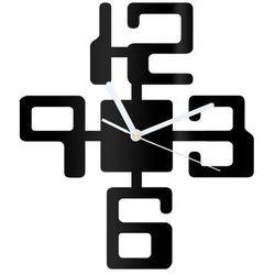 Zegar z pleksi na ścianę duże cyfry z białymi wskazówkami marki Congee.pl