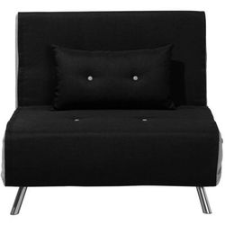 Sofa z funkcją spania czarna FARRIS, kolor czarny