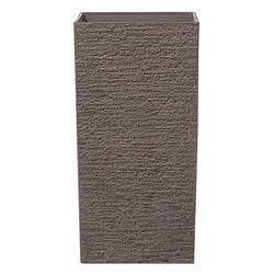 Doniczka ciemnobrązowa kwadratowa 35 x 35 x 70 cm gaza marki Beliani