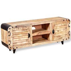 Vidaxl szafka tv z surowego drewna mango 120x30x50 cm (8718475528845)