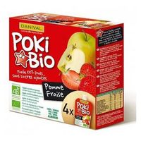 Przecier POKI jabłkowo- truskawkowy BIO 4x 90g- DANIVAL (3431590008348)
