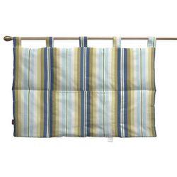 wezgłowie na szelkach, niebieskie pasy, 90 x 67 cm, mirella marki Dekoria
