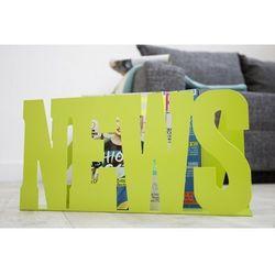 Gazetnik News zielony - zielony metalowy