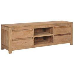 Vidaxl szafka pod tv, 120x30x40 cm, lite drewno tekowe (8719883581576)