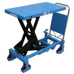 Nożycowy wózek podnośny, nośność 800 kg, pałąk przyspawany na stałe. Zawsze odpo