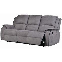 3-osobowa sofa z funkcją relaks z mikrofibry HERNANI - Szary, kolor szary