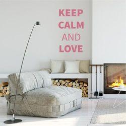 Szablon na ścianę keep calm and love 1947 marki Wally - piękno dekoracji