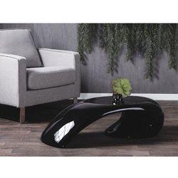 Stolik kawowy - czarny - stół - ława - włókno szklane - elatus marki Beliani