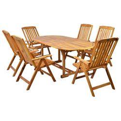 Hecht czechy Hecht leader set meble ogrodowe zestaw mebli ogrodowych stół + 6 krzeseł drzewo akacja - ewimax oficjalny dystrybutor - autoryzowany dealer hecht (8594061748343)
