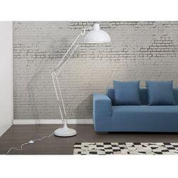 Lampa stojąca biała- lampa podłogowa - lampa biurowa - oświetlenie - parana marki Beliani