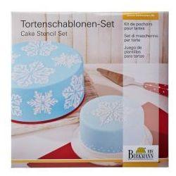 Birkmann Szablony do dekoracji tortów ice crystal 2 szt.