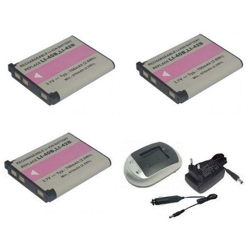 01. Zestaw 3 x bateria NP-45, EN-EL10, LI-42B + ładowarka - produkt dostępny w ebaterie.pl