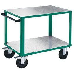 Wózek montażowy, 2 powierzchnie ładunkowe z nakładkami z ocynkowanej blachy stal marki Eurokraft active green