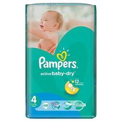 Pampers Pieluchy Active Baby Dry 4 Maxi (49 szt.) z kategorii Pieluchy jednorazowe