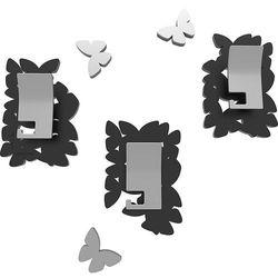 Wieszaki ścienne dekoracyjne butterflies  czarne marki Calleadesign
