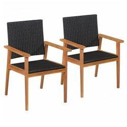 Elior Zestaw krzeseł ogrodowych regia - czarno-brązowy