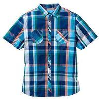 Koszula z krótkim rękawem regular fit  niebieski w kratę, Bonprix, S-XXXL