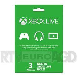 Subskrypcja Xbox Live Gold (3 m-ce karta zdrapka) - produkt w magazynie - szybka wysyłka!, kup u jednego z pa