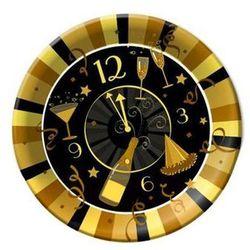 Tam Talerze papierowe zegar - złote party - 23 cm - 6 szt. (5907668508983)