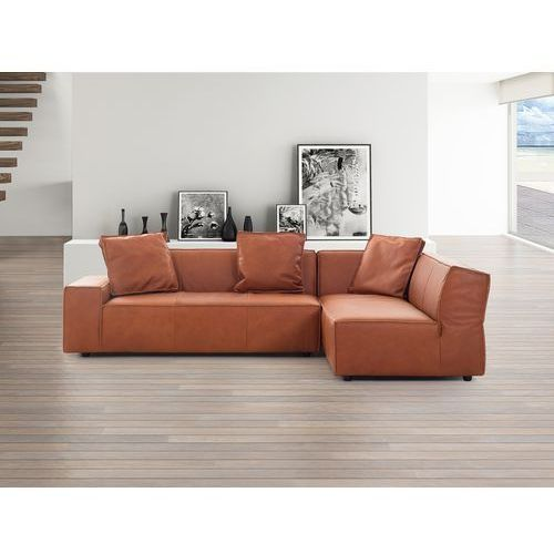 Sofa koniakowa - Naroznik skórzana - ADAM L - oferta [05a9eb025122656e]