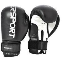 Rękawice bokserskie czarno-białe marki Axer sport