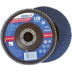 Tarcza do szlifowania DEDRA F26060 125 x 22 gradacja 60 listkowa cyrkon - produkt z kategorii- Pozostałe narzędzia elektryczne