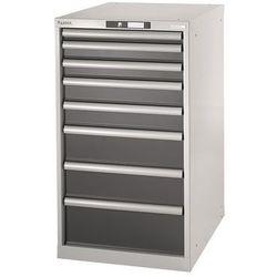 Lista Stół warsztatowy w systemie modułowym, szafka dolna, wys. 1000 mm, 8 szuflad, sz