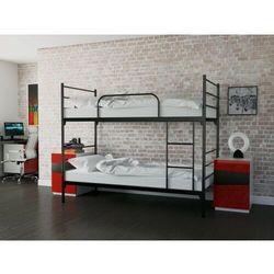 Łóżko metalowe piętrowe rozkładane 80x200 z materacem marki Meblemwm