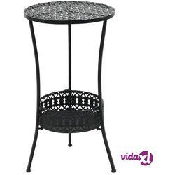 Vidaxl okrągły stolik bistro, styl vintage, metalowy, 40x70 cm, czarny (8718475606260)