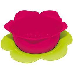 Durszlak z podstawką ZAK! Designs duży różowo-zielony - produkt z kategorii- Durszlaki, cedzaki i sitka