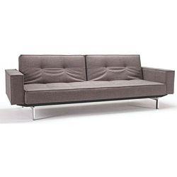 Innovation istyle  sofa splitback z podłokietnikami szarobeżowa 521 nogi chromowane - 741010020521-741010020-0-2